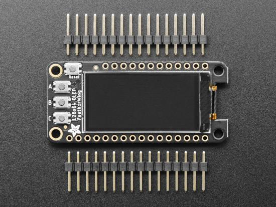 Adafruit FeatherWing OLED - 128x64 OLED Add-on für Feather