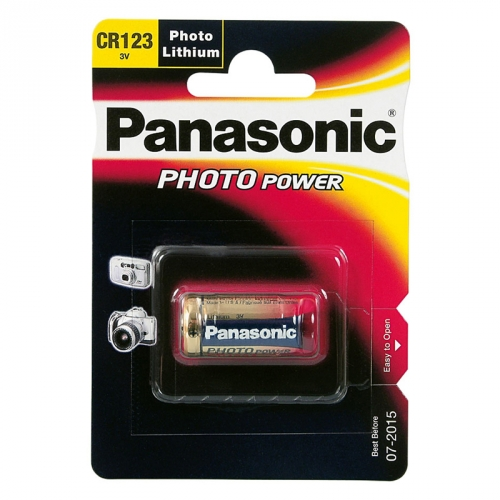 Panasonic Foto Batterie Lithium 3V CR123A, 1er Blister