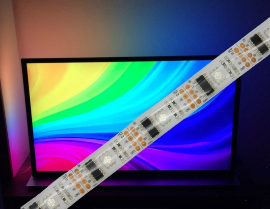 WS2801 digitaler LED RGB Stripe IP65 vergossen 32 LEDs/m - Meterware