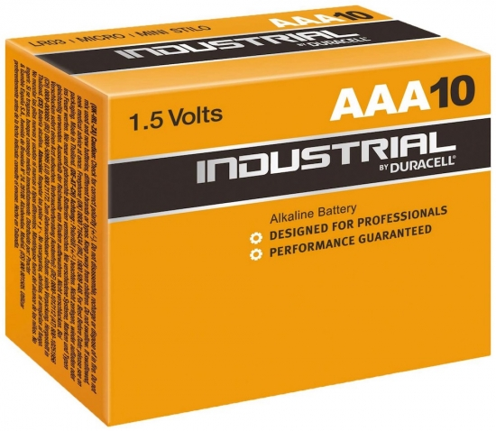 Duracell Industrial Batterien Micro AAA, 10er Packung