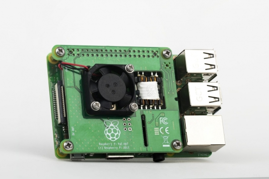 Power over Ethernet (PoE) HAT für Raspberry Pi 4 & 3B+, Rev. 3