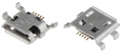 Micro USB Typ B Buchse, SMD, THT Montage, 4 Ableiter