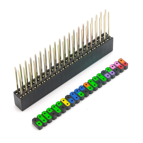 40 Pin GPIO Stacking Header für Raspberry Pi, farbig kodiert, 13,3mm