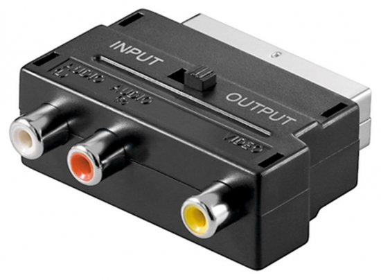 Scart-Adapter mit IN/OUT Umschalter