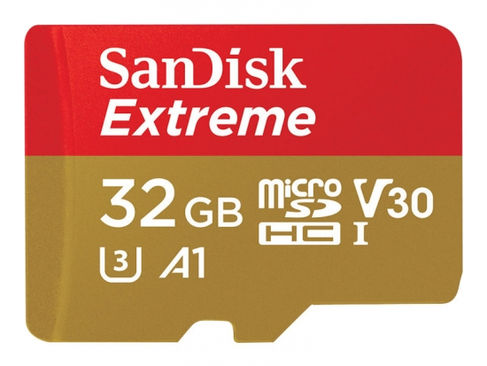 SanDisk Extreme micro SDHC A1 UHS-I U3 Speicherkarte + Adapter 32GB