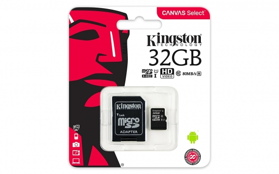 Kingston Canvas microSDHC Class 10 Speicherkarte + Adapter 32GB