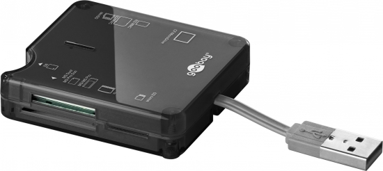 USB 2.0 Cardreader All-in-one mit 6 Kartenschächten