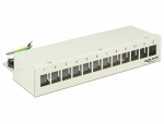 Keystone Desktop Patchpanel 12 Port grau