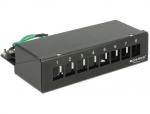Keystone Desktop Patchpanel 8 Port schwarz