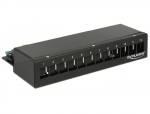 Keystone Desktop Patchpanel 12 Port schwarz