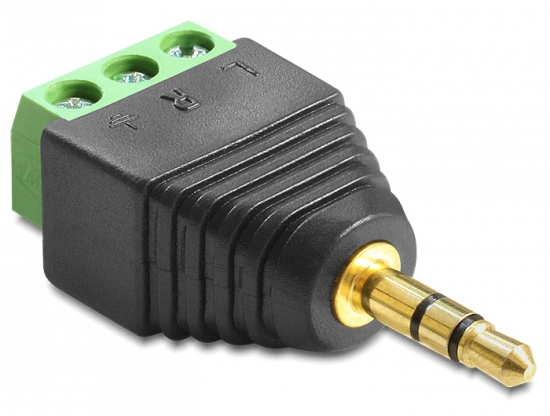 Adapter Terminalblock - Klinkenstecker 3,5mm 3 Pin
