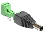 Adapter DC 2,5 x 5,5 mm Stecker - Terminalblock 2 Pin 2-teilig