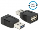 Adapter EASY-USB 2.0-A Stecker - USB 2.0-A Buchse