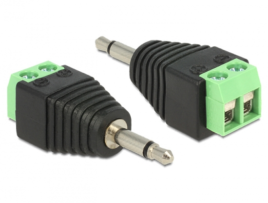 Adapter Terminalblock - Klinkenstecker 3,5mm 2 Pin