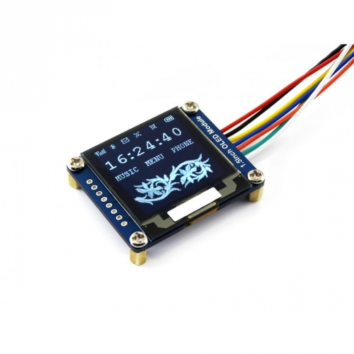 "0.95/"" 96x64 OLED Display Modul SPI Interface horizontale Stiftleiste RGB"