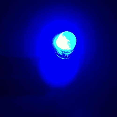 OptoSupply LED, 5mm, blinkend, 5800/2000mcd, 30°, 1.8Hz, klar, rot/blau