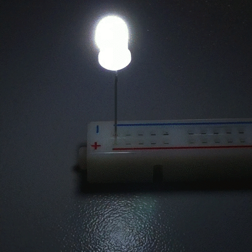 OptoSupply LED, 5mm, blinkend, 1120-1560mcd, 30°, 1.8Hz, diffus, rot/weiß