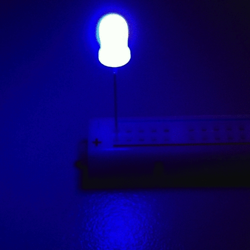 OptoSupply LED, 5mm, blinkend, 1000-3500mcd, 30°, 1.8Hz, diffus, blau/gelb