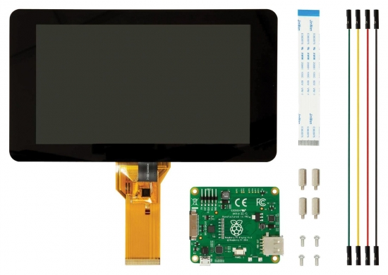 offizielles Raspberry Pi 7 Display mit kapazitiven Touchscreen